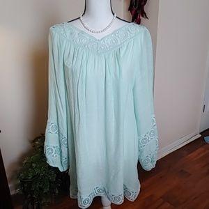 NWT green blouse